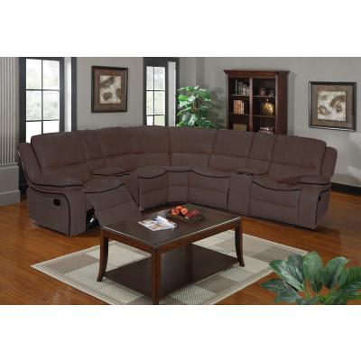 Canapé d'angle relax CLIMB simili cuir marron
