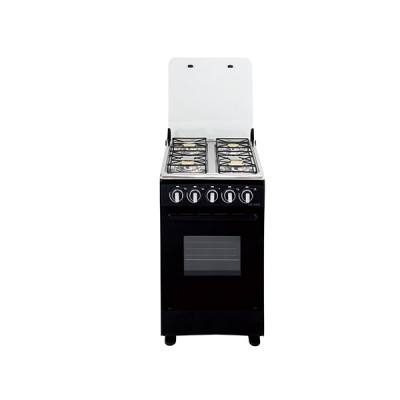 Cuisinière 4 feux gaz MAGIC POINT noir (C20)