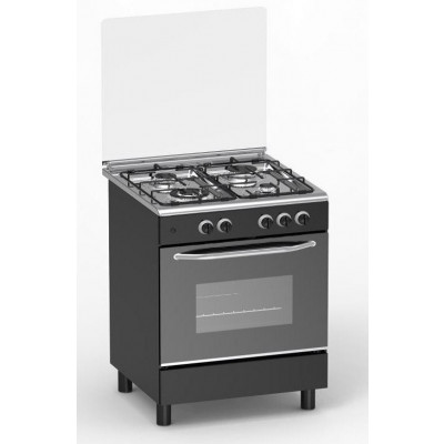 Cuisinière 4 feux gaz MAGIC POINT noir (GM60)
