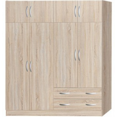 Armoire ELIA 8 portes 2 tiroirs chêne clair