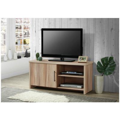 Meuble TV FRED 1 porte 2 niches décor frêne alisé