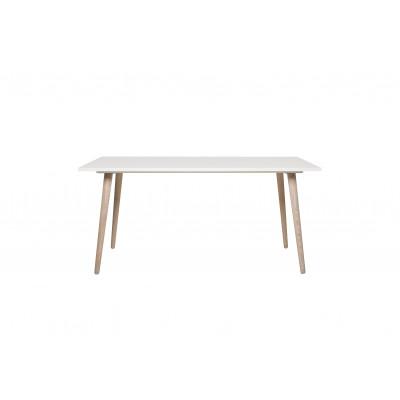 Table de salle à manger GOTEBORG blanc/chêne sonoma