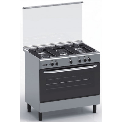 Cuisinière 5 feux gaz MAGIC POINT inox (GX95)