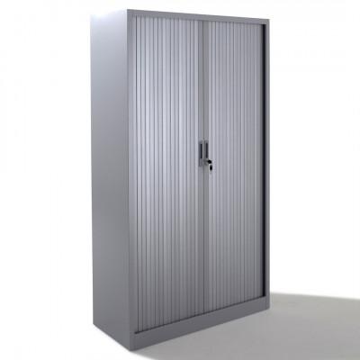 Armoire métallique 2 portes à rideau BDX L120 H198 cm coloris gris