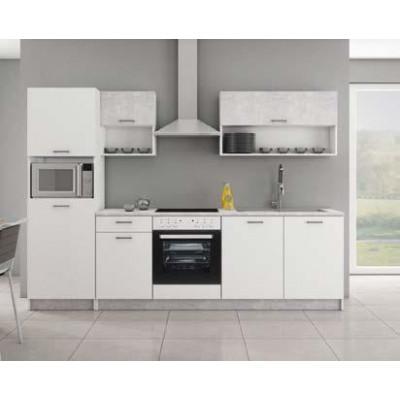 Ensemble 6 meubles cuisine MAKO blanc