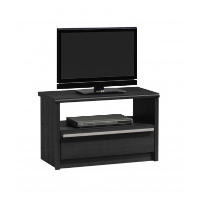 Meuble TV CARL 1 tiroir chêne ébène