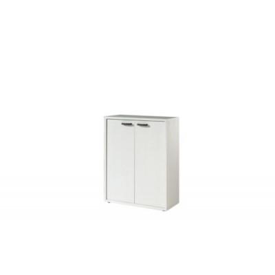 Armoire basse 2 portes RONTO Blanc