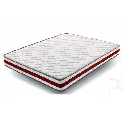 Matelas mousse 140X190X21 ORTHOSOFT blanc/rouge