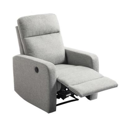 Fauteuil relax OSLO tissu gris foncé