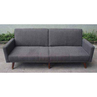Canapé convertible PAPEETE tissu anthracite