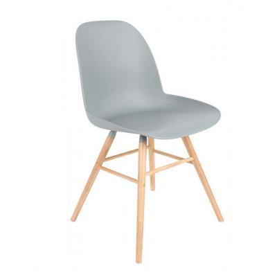 Chaise  MALMO pieds en bois GRIS