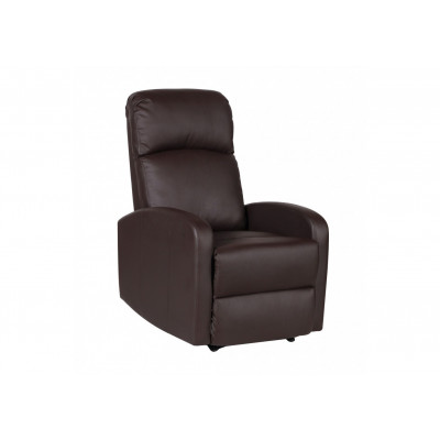 Fauteuil relax PORTO simili cuir chocolat