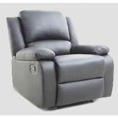Fauteuil relax RENO simili cuir Gris 'AIR LEATHER""