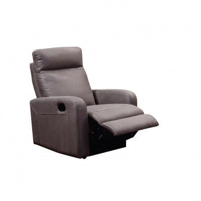 Fauteuil relax BERGAME tissu gris