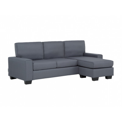 Canapé d'angle RIMINI tissu gris