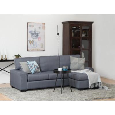 Canapé d'angle RIMINI tissu bleu