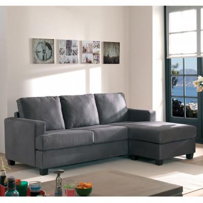 Canapé d'angle réversible RIMINI tissu gris