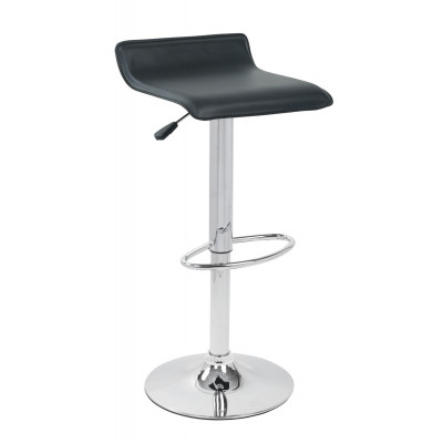 Tabouret de bar PALERMO PU noir/chrome