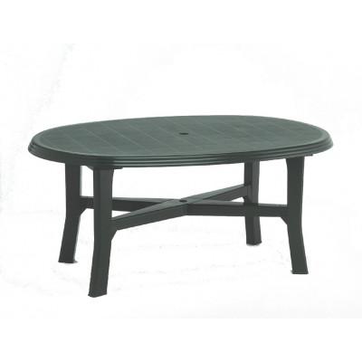 Table de jardin ovale SENNA en plastique vert