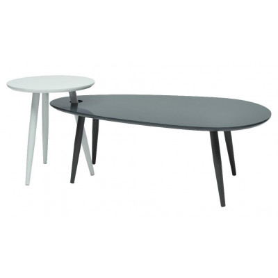 Table basse FUSION blanc/anthracite