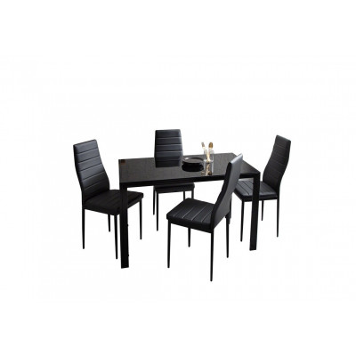 Ensemble table + 4 chaises LUXOR noir