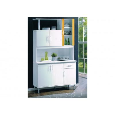 Buffet vaisselier PLAYA 6 Portes/1 tiroir blanc