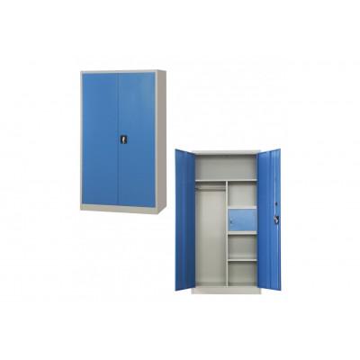 Armoire métallique multi-fonctions 2 portes gris clair/bleu VD-2M