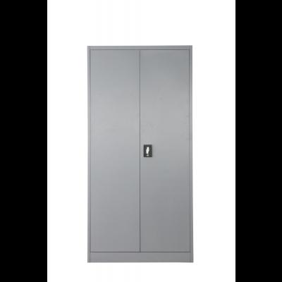 Vestiaire métallique multi-fonctions 2 portes gris/gris (VD-2M)