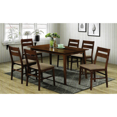 Ensemble Table + 6 chaises VIGO wenge