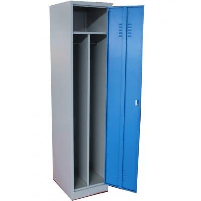 Vestiaire 1 porte industrie salissante métallique coloris gris et bleu VS-1S