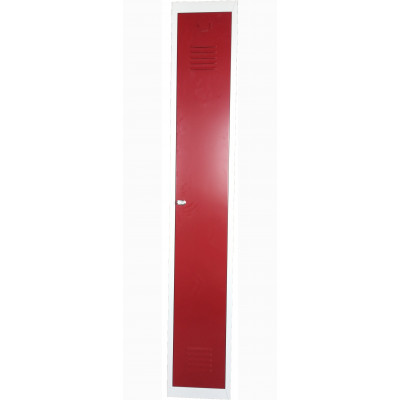 Vestiaire métallique industrie propre 1 porte gris/rouge (VS-1P)